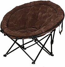 TangMengYun Stuhl Falten große Cord Stoff faul Stuhl Sofa Stuhl Freizeit Stuhl Schlafsaal Balkon Wohnzimmer Stuhl eine Vielzahl von Farben abnehmbar waschbar ( Farbe : Kaffee )