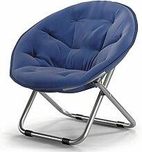TangMengYun Stuhl Falten große Leinwand aufrecht Baumwolle Rohr faul Stuhl Sofa Stuhl Freizeit Stuhl Schlafsaal Balkon Wohnzimmer Stuhl eine Vielzahl von Farben können tragen ( Farbe : Navy A )