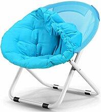 TangMengYun Stuhl Falten große Leinwand aufrecht Baumwolle Rohr faul Stuhl Sofa Stuhl Freizeit Stuhl Schlafsaal Balkon Wohnzimmer Stuhl eine Vielzahl von Farben können tragen ( Farbe : Blue B )