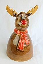 Tangoo Keramik Elch Weihnachten Blumentopfdekoration