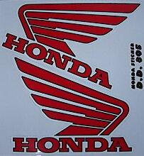 Tank Red Honda Aufkleber Stickers Decals - Set of