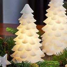 Tannenbaum: Dauerhafte Wachs-Dekoration leuchtet