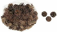 Tannenzapfen SILVESTER - 5 KG - Dekozapfen -