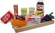 Tanner Tablett mit 11 Spiellebensmittel aus Holz