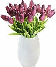 Tanshine Künstliche Tulpen, 15 Stück,