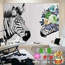 Tantoto 3D Wallpaper Die Nordische Kunst Zebra Hintergrundbild Der Modernen, Minimalistischen Schlafzimmer Wohnzimmer Tv Hintergrund Tapete Wandmalereien Ideen Nahtlos