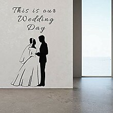 Tanzen Paar Wandaufkleber Aufkleber Hochzeit