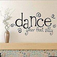 Tanzen Sie Ihre Füße Dumme Wandaufkleber Zitate