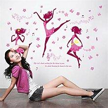 Tanzende Mädchen Aufkleber Tanz Klassenzimmer
