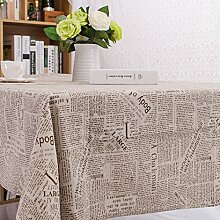 Tao Englisch Zeitung Baumwolle Leinen Tischtuch