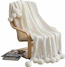 Tao Gestrickte Sofa Decke fotografischen Schal