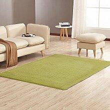 Tao Teppich-Wohnzimmer-rechteckiges Sofa-Nachttisch-Wolldecke-Schlafzimmer-dünne Boden-Matte mehrfache Farbe 63.0 * 90.6 Zoll (Farbe : Grass green)