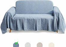 TAOCOCO Mehrzweck Sofabezug Sofadecke Leinen Sofa