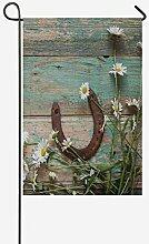 TAOGAN Rost Hufeisen und Gänseblümchen auf