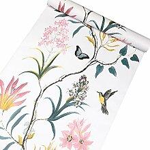 Taogift Selbstklebende Vinyl-Tapete mit Vögeln,