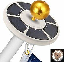TAOtTAO Fahnenmast solarbetriebene automatische
