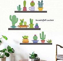 TAOYUE Schöne Kaktus Wandaufkleber Wohnkultur