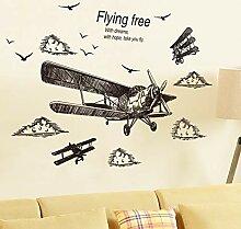 TAOYUE Vorläufige Skizze Flugzeug Wandaufkleber