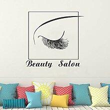 TAOYUE Wimpern Vinyl Wandaufkleber Beauty Salon