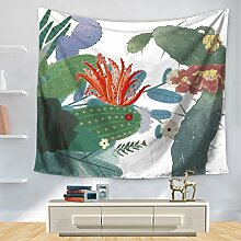 Tapestry, tropische pflanze kaktus