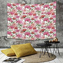 Tapestry, Wall Hanging, Aquarell, rosa