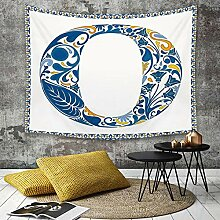 Tapestry, Wall Hanging, Buchstabe O, blauer
