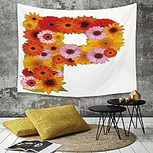 Tapestry, Wall Hanging, Buchstabe P, Blumengesteck