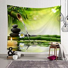 Tapestry Wall Hanging,Grüne Pflanze Wald
