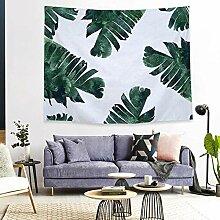 Tapestry Wall Hanging,Malte Grüne Pflanze Anemone