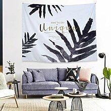 Tapestry Wall Hanging,Schwarz Lackiert Pflanze