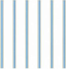 Tapete 10 m x 53 cm Esprit Farbe: Blau/Braun/Weiß