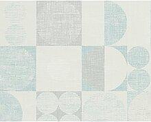 Tapete 1005 cm x 53 cm Eitzen Metro Lane Farbe: