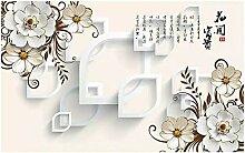 Tapete 3d 3D Blumen blühende Hintergrundmauer