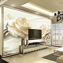 Tapete 3D Blume Champagner Rosa Moderne