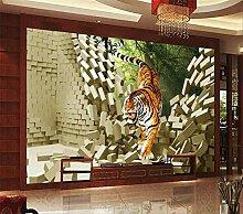 Tapete 3D dreidimensionale Tiger Hintergrund