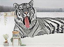 Tapete 3d Fashion mächtige wilde Tiger