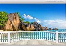 Tapete 3D Fototapete Balkon Mit Meerblick 3D