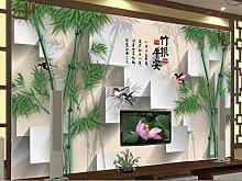 Tapete 3D Fototapete Bambusvogel Tapeten 3D Effekt