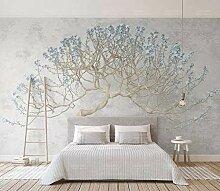 Tapete 3D Fototapete Blühender Baumast Mit Einem