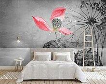 Tapete 3D Fototapete Chinesische Tinte Blüht