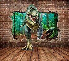 Tapete 3D Fototapete Dinosaurierwand Tapeten 3D