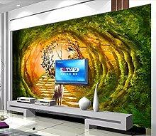 Tapete 3D Fototapete Dschungel-Elch Tapeten 3D