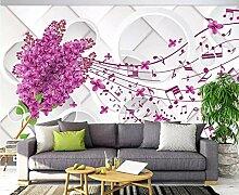 Tapete 3D Fototapete Ein Gelber Nordic-Baum