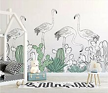 Tapete 3D Fototapete Flamingo 3D Effekt