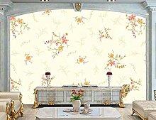 Tapete 3D Fototapete Frische Gelbe Mit Blumenblume