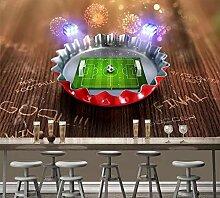 Tapete 3D Fototapete Fußball-Thema Tapeten 3D
