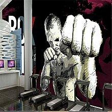 Tapete 3D Fototapete Graffiti-Fitness Tapeten 3D