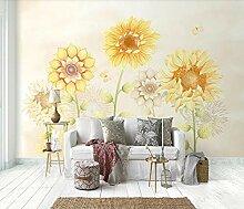 Tapete 3D Fototapete Handgemalte Sonnenblume Klein