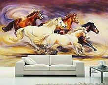 Tapete 3D Fototapete Harte Arbeit Pferd