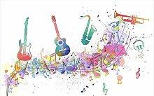 Tapete 3D Fototapete Konzert Für Musikinstrumente